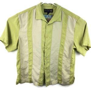 Nat Nast Button Down Shirt 100% Silk